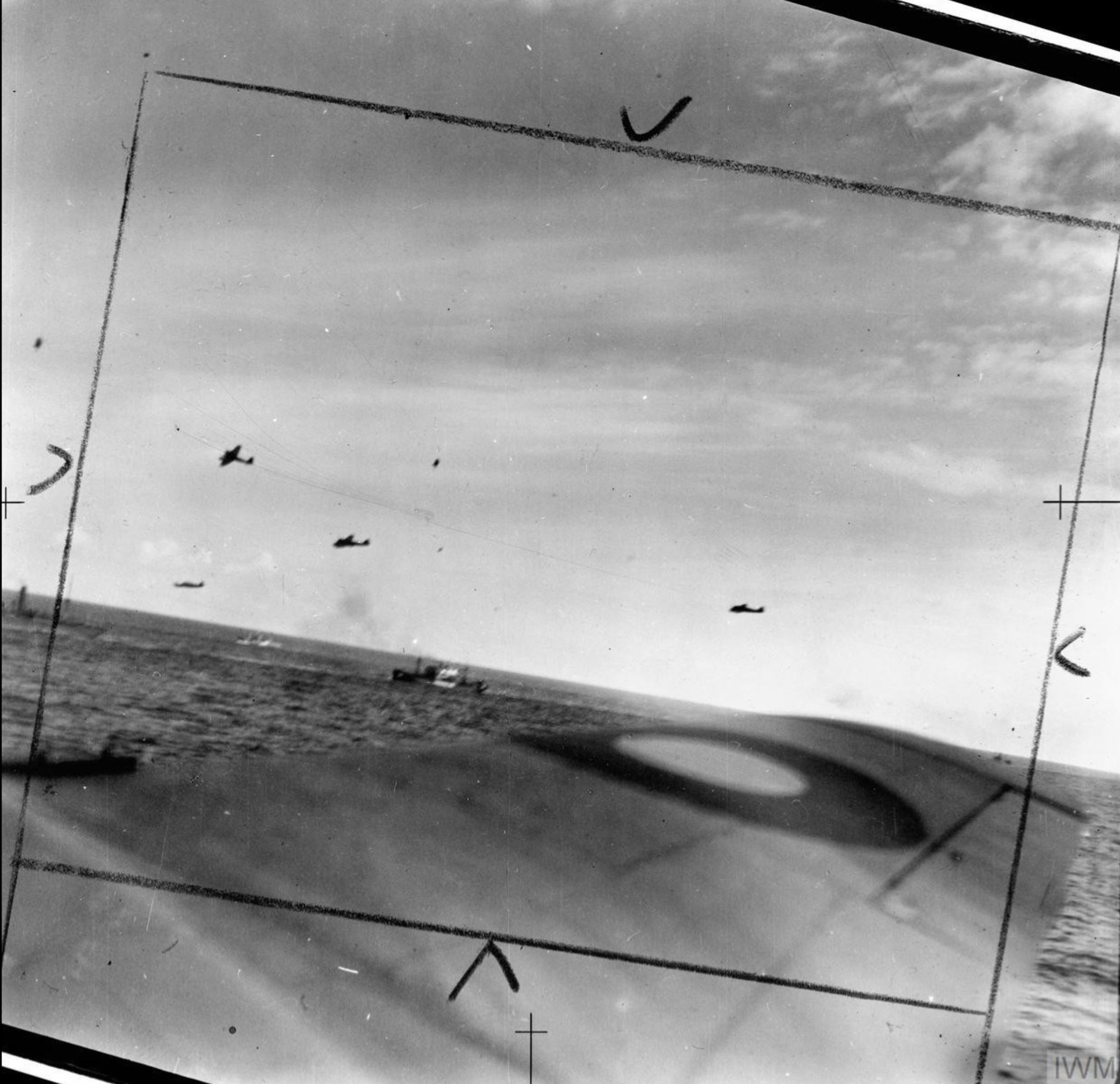 Beaufighter VIFs North Coates Strike Wing attack an enemy convoy off Vlieland Holland IWM C3524
