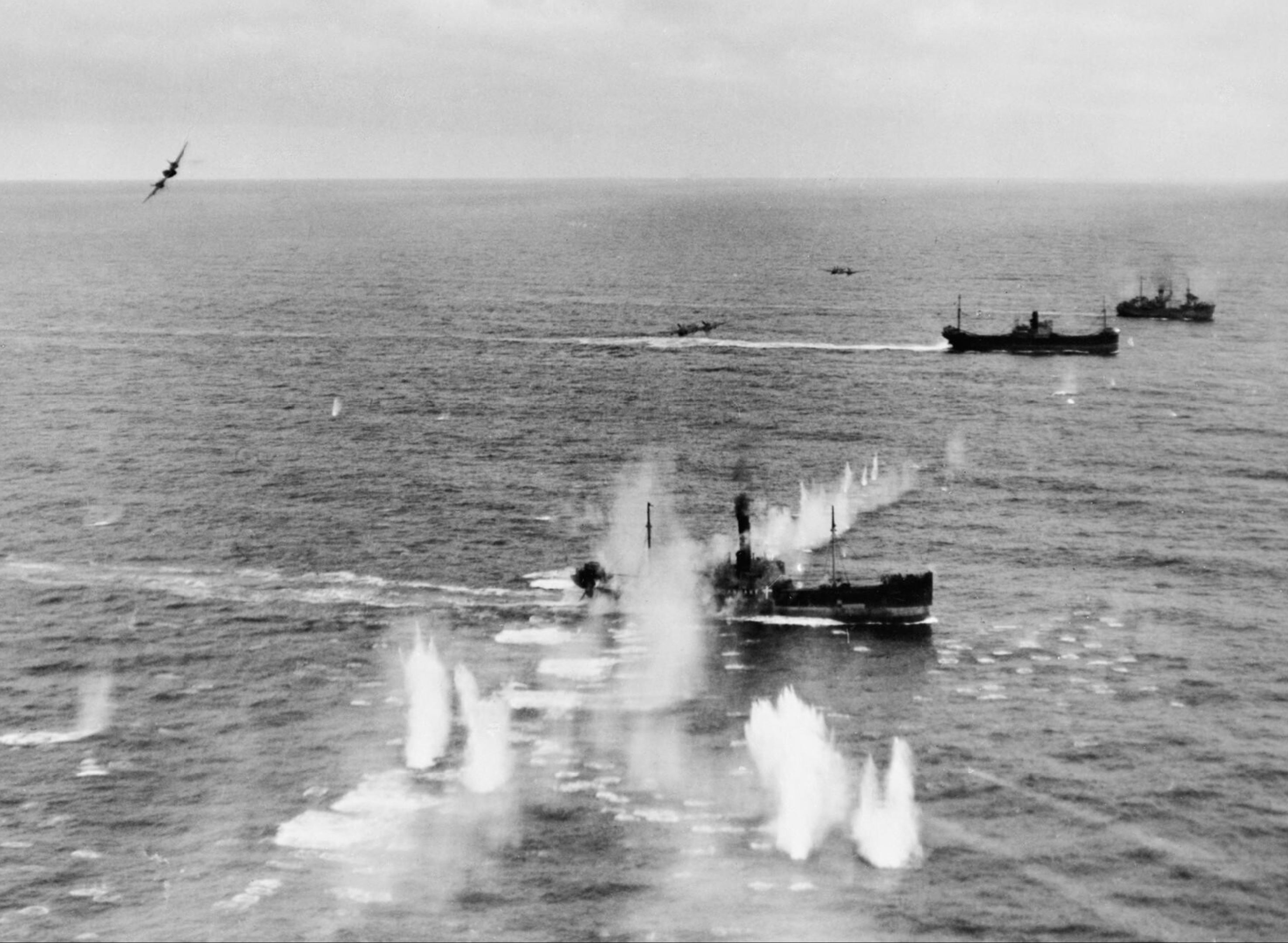 Beaufighter VIFs North Coates Strike Wing attack convoy off Terschelling Holland IWM C4381
