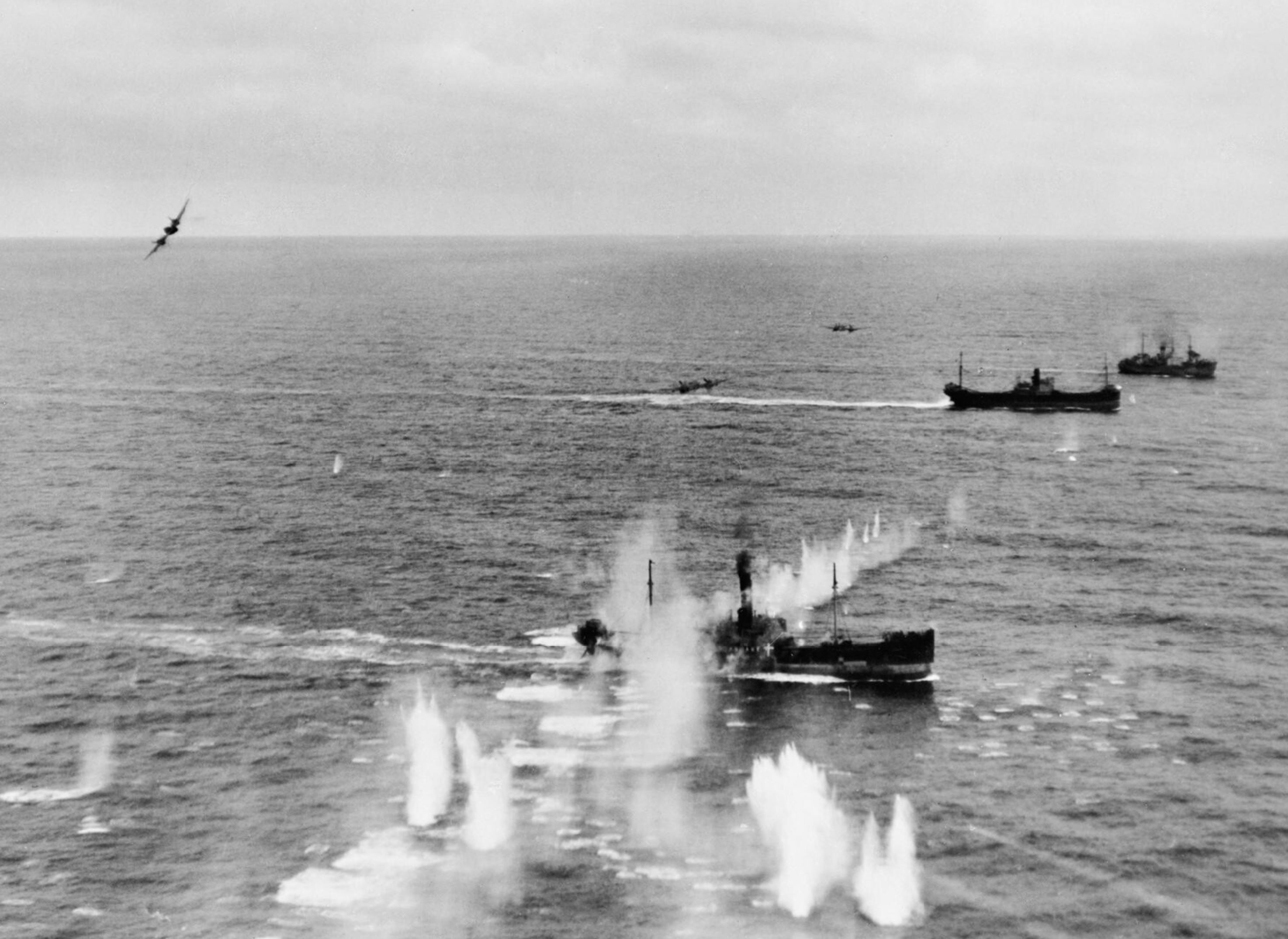 Beaufighter VIFs North Coates Strike Wing attack convoy off Terschelling Holland IWM C4381a