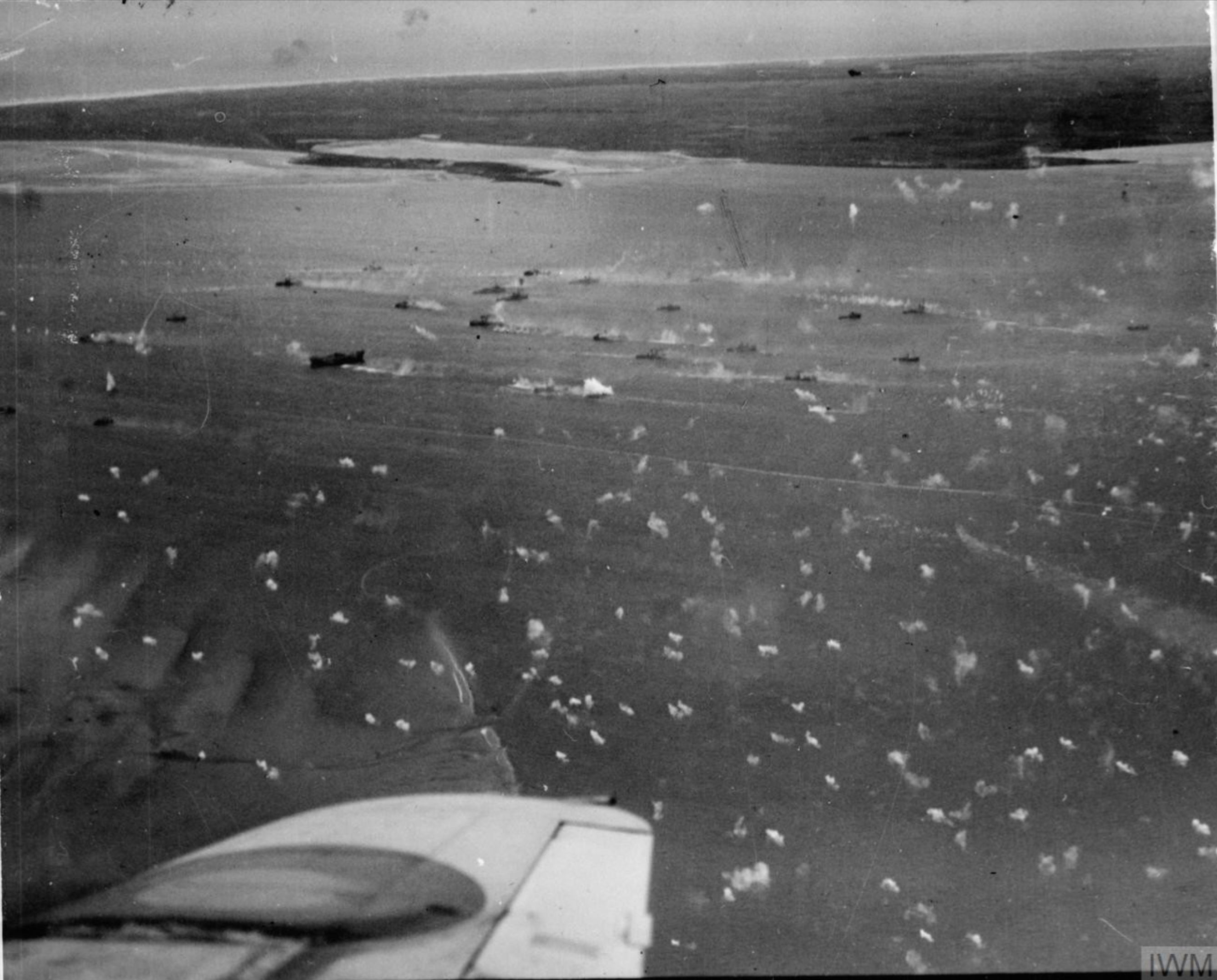 Beaufighter VIFs North Coates n Langham Strike Wings attack a merchant vessel off Marsdiep IWM C4461
