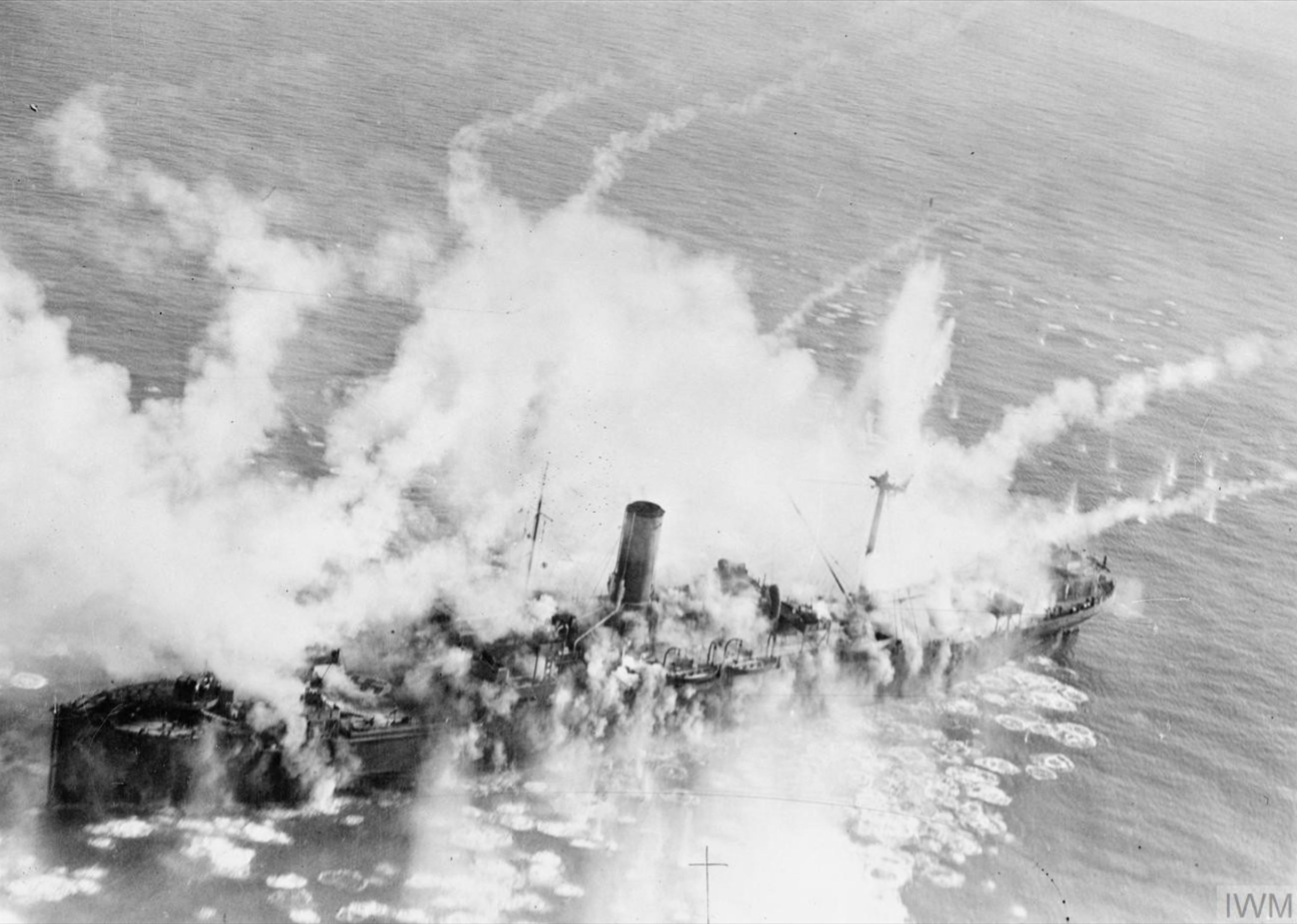 Beaufighter X RAF 236Sqn MBT NT950 attack the 6,128 ton Magdeburg which sank Royan France June 1944 IWM C4582