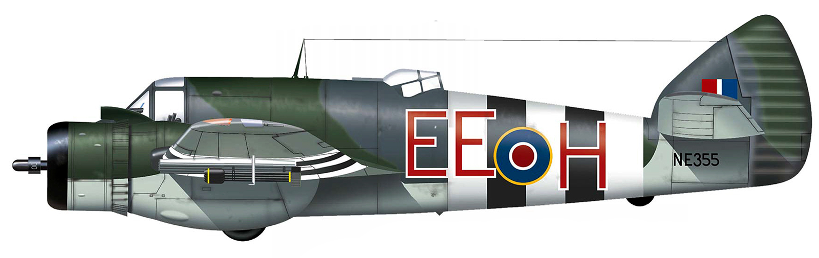 Beaufighter X RCAF EEH NE335 Engalnd June 1944 Profile 0A