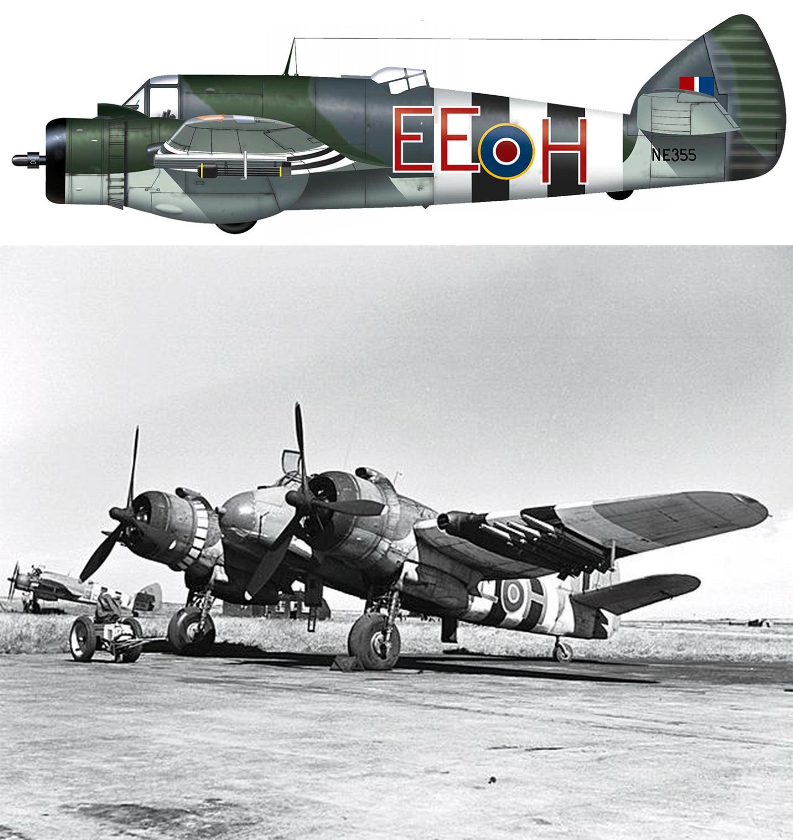 Beaufighter X RCAF EEH NE335 Engalnd June 1944 Profile 0B