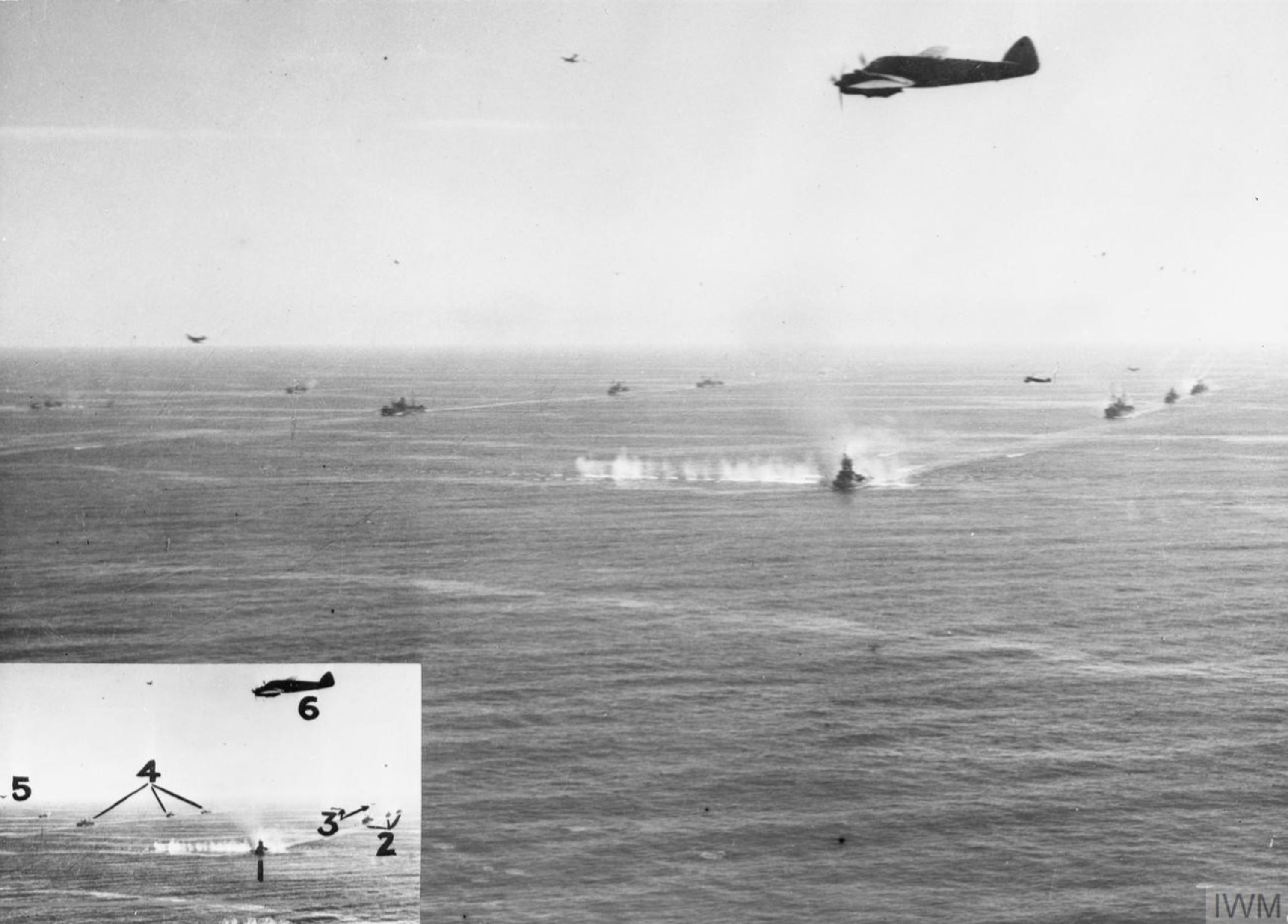 Beaufighters from North Coates Strike Wing attack on a convoy off Texel Holland IWM C3537