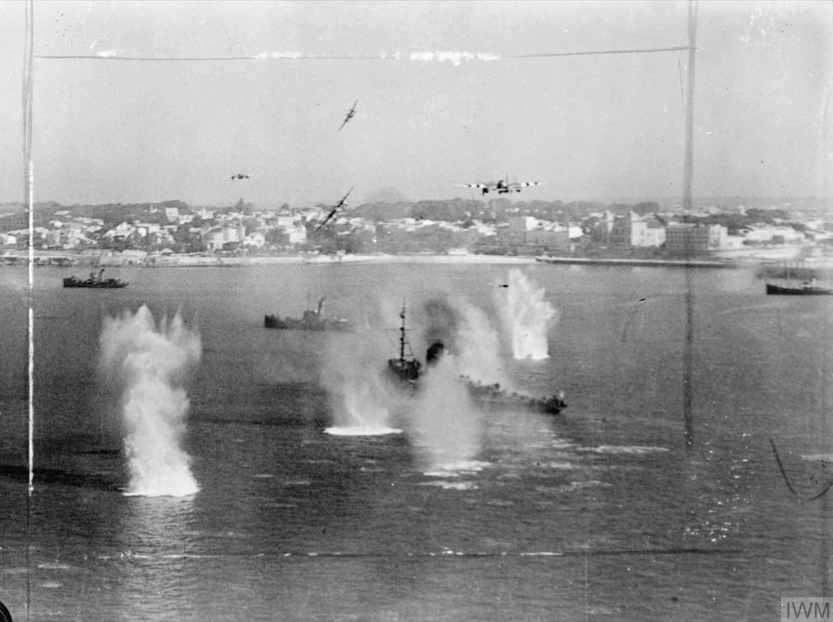 Mosquito FB also attack the minesweeper which blew up Royan France June 1944 IWM C4551
