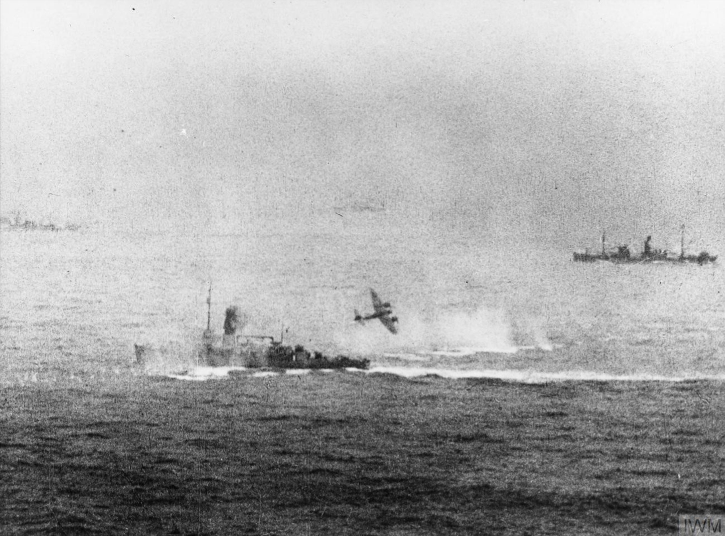 North Coates Strike Wing Beaufighters VIFs attack a Kriegsmarine minesweeper off Texel Holland IWM C3506