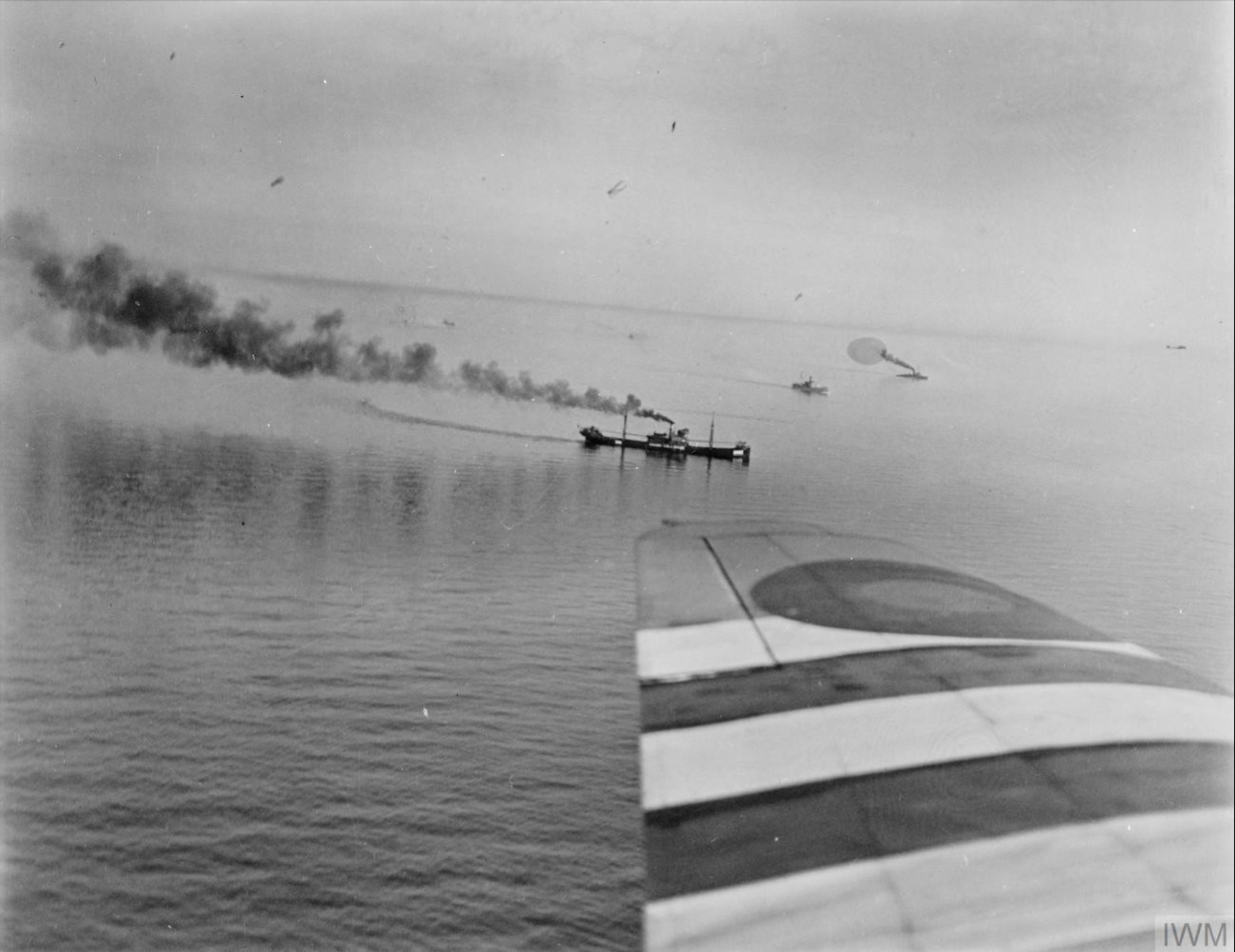 North Coates n Strubby Wings Beaufighters attack a convoy with Torpedos off Heligoland 8 July 1944 IWM HU81250