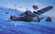 Asisbiz Artwork depecting RAF Bristol Beaufighters attacking German ships 0A
