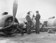 Asisbiz Beaufighter TFX RAAF 455Sqn damaged attacking shipping in Marsdiep harbour Holland 12 Sep 1944 IWM CE158