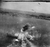 Asisbiz Beaufighter TFX RAF 236Sqn MBx attack a escort vessel at Les Sables dOlonne France IWM C4538