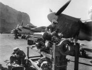 Asisbiz Beaufighter IIF Rolls Royce Merlin XX being serviced RNAS Giberaltar Jan 1944 IWM A21933