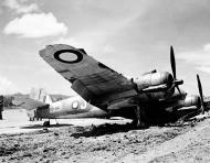 Asisbiz Beaufighter IC RAAF 30Sqn J A19 34 flak damage landing Ward Strip 22nd Mar 1943 01