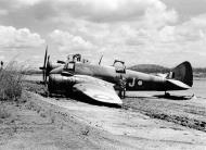 Asisbiz Beaufighter IC RAAF 30Sqn J A19 34 flak damage landing Ward Strip 22nd Mar 1943 02