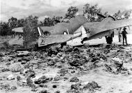 Asisbiz Beaufighter IC RAAF 30Sqn L A19 11 bomb damaged Ward Strip PNG 12th Apr 1943 01