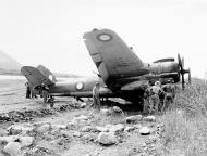 Asisbiz Beaufighter VIC RAAF 30Sqn A19 137 flak damage landing Vivigani 4th Oct 1943 01