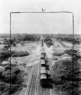 Asisbiz Beaufighter VIF RAF 27Sqn attacking Japanese train between Monywa and Sagaing Burma 1945