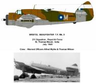 Asisbiz Beaufighter X RAF 211Sqn M NV862 Alfred Wythe and Thomas Wilson India July 1945 Profile 0A