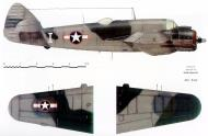 Asisbiz Beaufighter VIF USAAF 12AF 416NFS White I X7929 Gerbini Corsica 1944 Profile 0A
