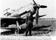 Asisbiz Aircrew Luftwaffe 3.ErprGr210 pilot Horst Marx with his Bf 109E3B France 15th Aug 1940 01