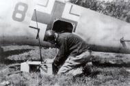 Asisbiz Messerschmitt Bf 109E 2.ErprGr210 Red 8 carring out a radio test France 1940 01