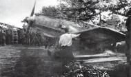 Asisbiz Messerschmitt Bf 109E3 3.ErprGr210 taxies from a camouflaged dispersal France 1940 01