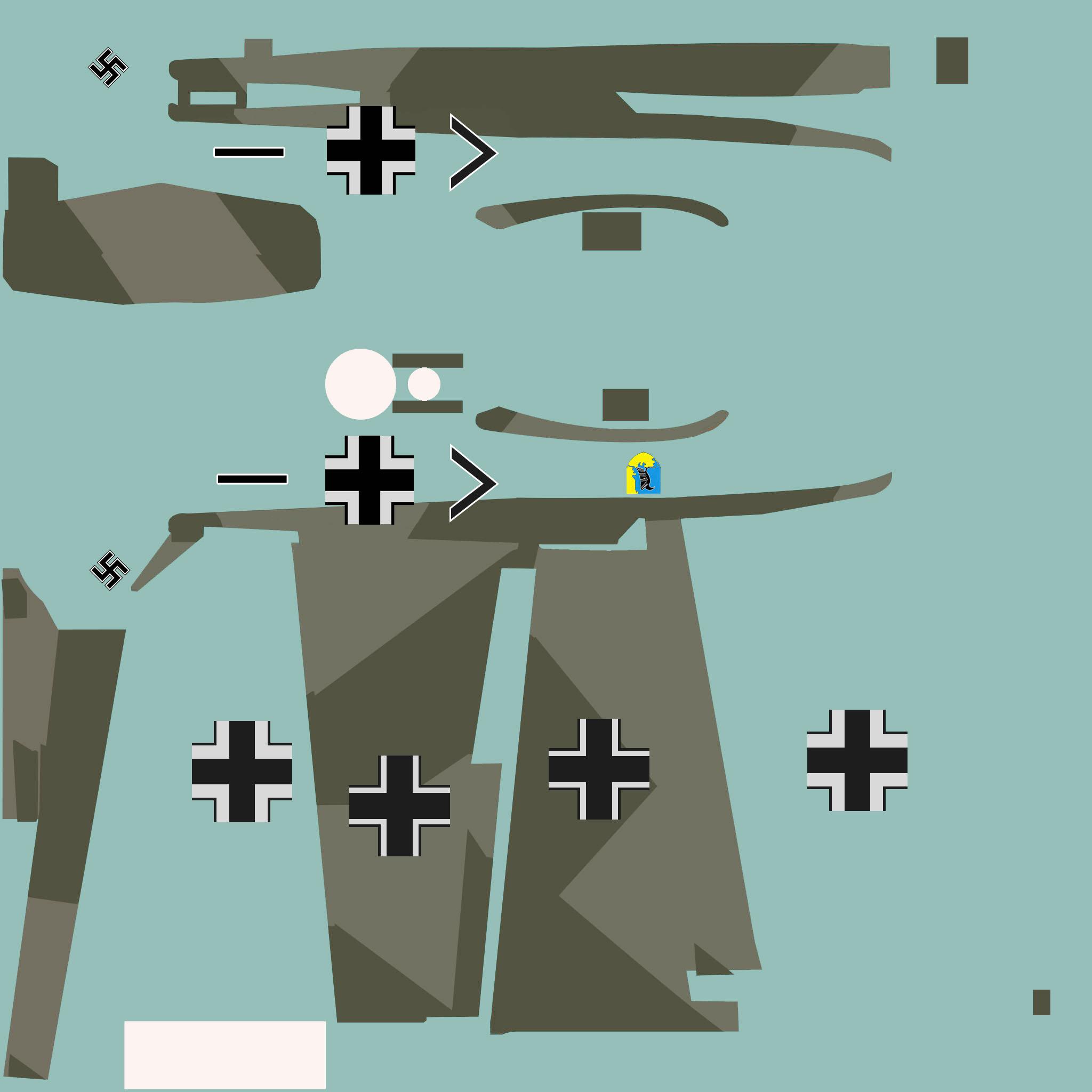 COD asisbiz Bf 109E1 Stab JG1 Karl Schumacher White Prop and one emblem