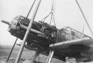 Asisbiz Messerschmitt Bf 109E3 JG2 named Unkraut having an engine change 1940 02