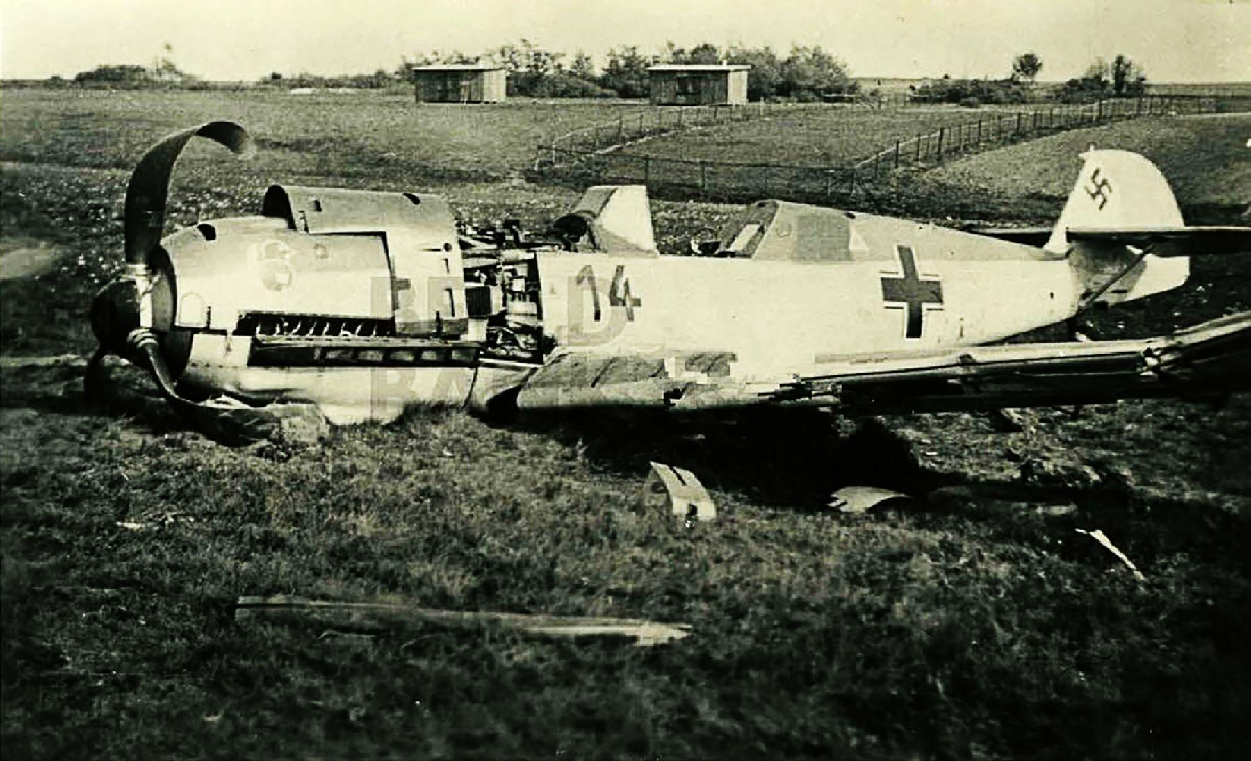 Messerschmitt Bf 109E3 2.JG21 Black 14 shot down by flak De Klomp Holland 10th May 1940 01
