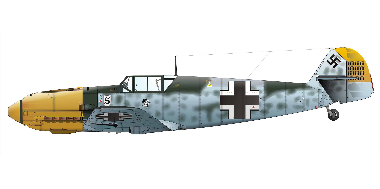 Messerschmitt Bf 109E4 Stab JG26 Adolf Galland Summer 1940 01