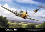 Asisbiz Artwork by aviationclassics titled Check Six 0A