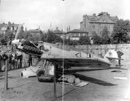 Asisbiz Messerschmitt Bf 109E1 Stab III.JG26 Werner Bartels WNr 6296 on display at Croydon Aug 1940 IWM HU106339