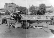 Asisbiz Messerschmitt Bf 109E1 Stab III.JG26 Werner Bartels WNr 6296 on display at Croydon Aug 1940 IWM HU106340