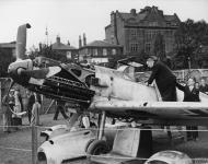 Asisbiz Messerschmitt Bf 109E1 Stab III.JG26 Werner Bartels WNr 6296 on display at Fairfield Croydon Aug 1940 IWM HU67692