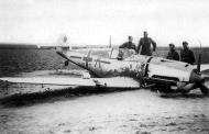Asisbiz Messerschmitt Bf 109E4 Stab JG26 A Adolf Summer belly landing 1940 02