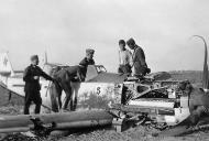 Asisbiz Messerschmitt Bf 109E4 Stab JG26 A Adolf Summer belly landing 1940 03