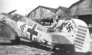 Asisbiz Messerschmitt Bf 109E4 Stab JG26 Adolf Galland WNr 5819 with Uffz Meyer Apr 1941 01