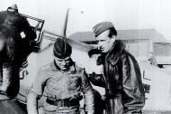 Asisbiz Aircrew Luftwaffe JG26 ace pilot and ex Olympian Joachim Muncheberg being briefed 01