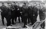 Asisbiz Aircrew Luftwaffe JG26 ace pilot and ex Olympian Joachim Muncheberg with Galland 01