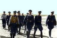 Asisbiz Aircrew Luftwaffe JG26 ace pilot and ex Olympian Joachim Muncheberg with Generals 01