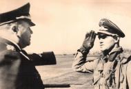 Asisbiz Aircrew Luftwaffe JG26 ace pilot and ex Olympian Joachim Muncheberg with Generals 02