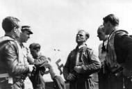 Asisbiz Aircrew Luftwaffe JG26 ace pilot and ex Olympian Joachim Muncheberg with flying comrades 07