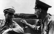 Asisbiz Aircrew Luftwaffe JG26 ace pilot and ex Olympian Joachim Muncheberg with flying comrades 08
