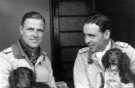 Asisbiz Aircrew Luftwaffe JG26 ace pilot and ex Olympian Joachim Muncheberg with his best friend 02