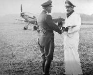 Asisbiz Aircrew Luftwaffe ace JG26 Maj Adolf Galland meeting III Gruppe 01