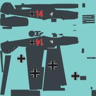 Asisbiz COD asisbiz Bf 109E1 2JG3 Zerbst red 14 emblem both sides winter 1939 40