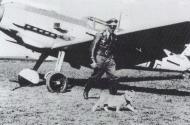 Asisbiz Aircrew Luftwaffe ace JG3 pilot Franz von Werra with Simba 1940 03