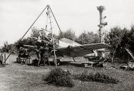 Asisbiz Messerschmitt Bf 109E4 Stab JG3 engine change France 1940 01