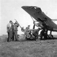 Asisbiz Messerschmitt Bf 109E JG51 showing I gruppe emblem being salvaged after a bad landing 01