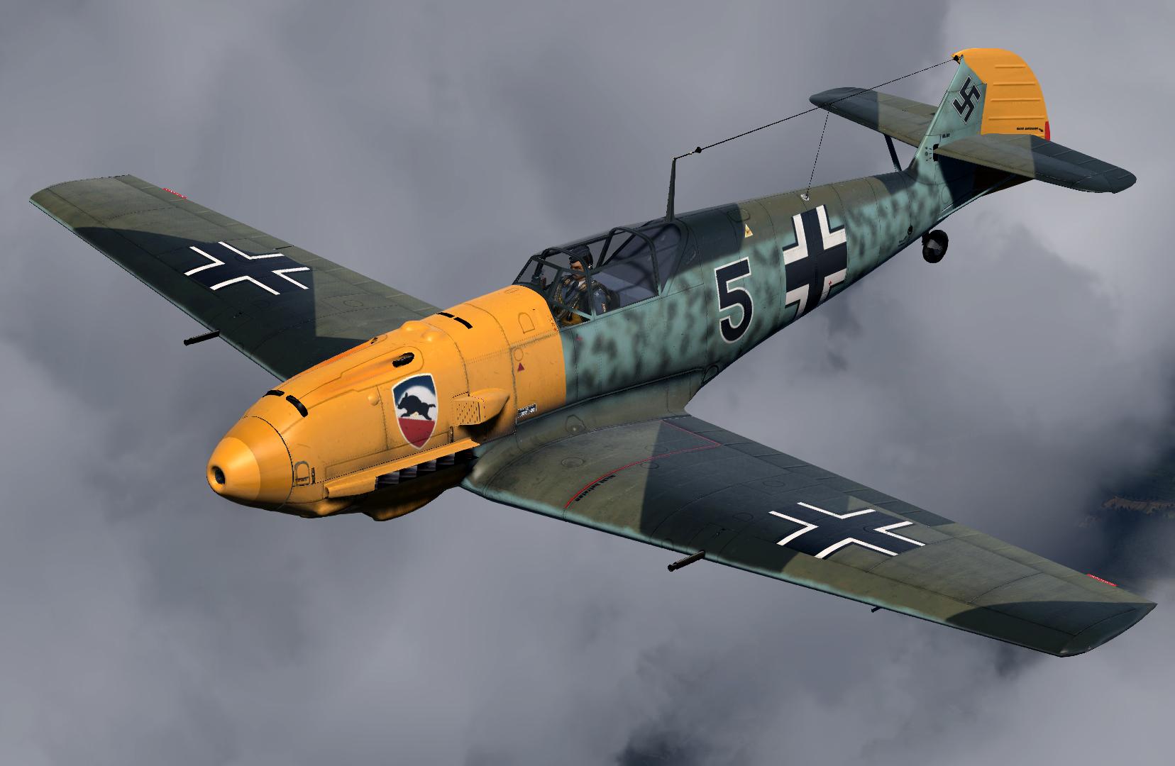 COD CF Bf 109E3 1.JG52 Black 5 Helmut Bennemann France 1940 V02