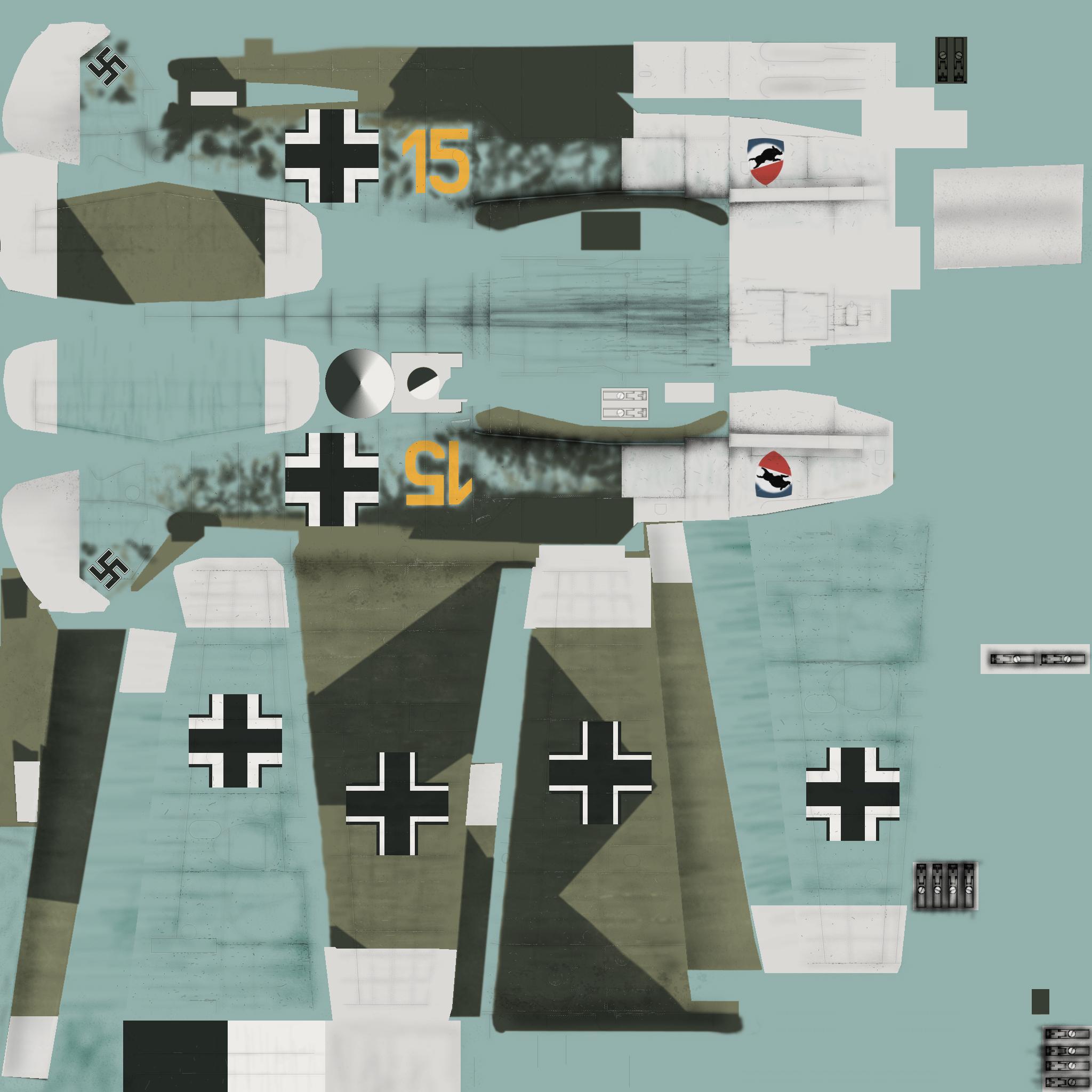 COD CF Bf 109E3 3.JG52 Y15 Kurt Wolff France 1940